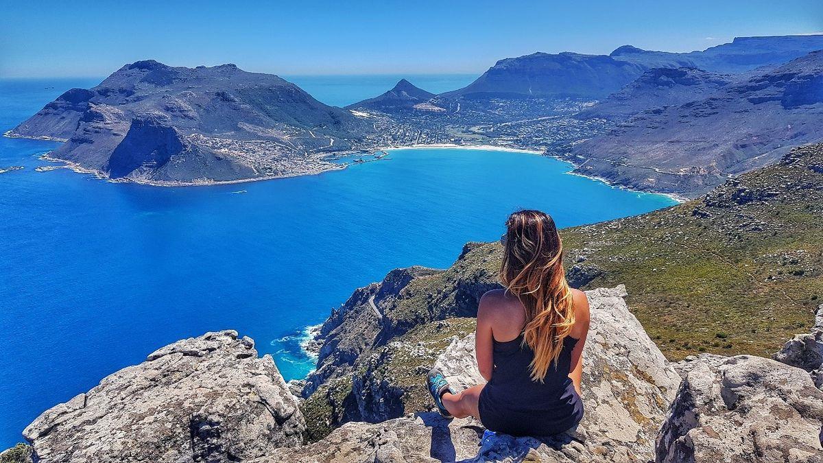 Fokváros, kilátás a Chapman's Peak-ről dél-afrikai köztársaság