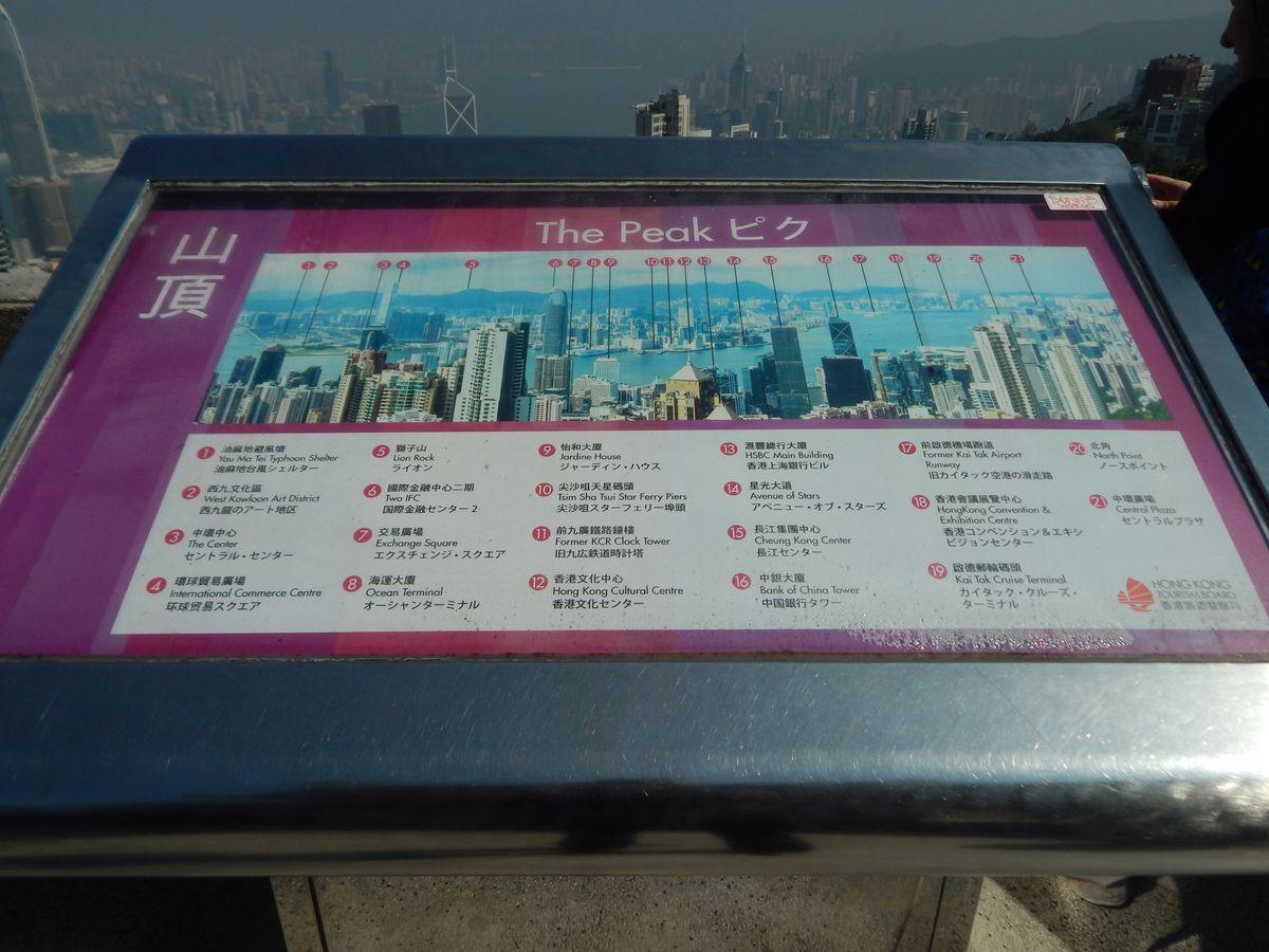Látvány Hongkongban a Victoria Peakről