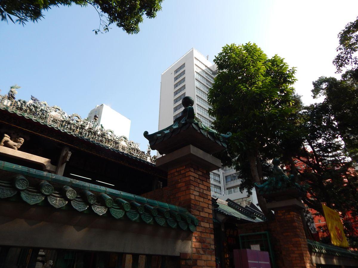 Hongkongban házak látványa