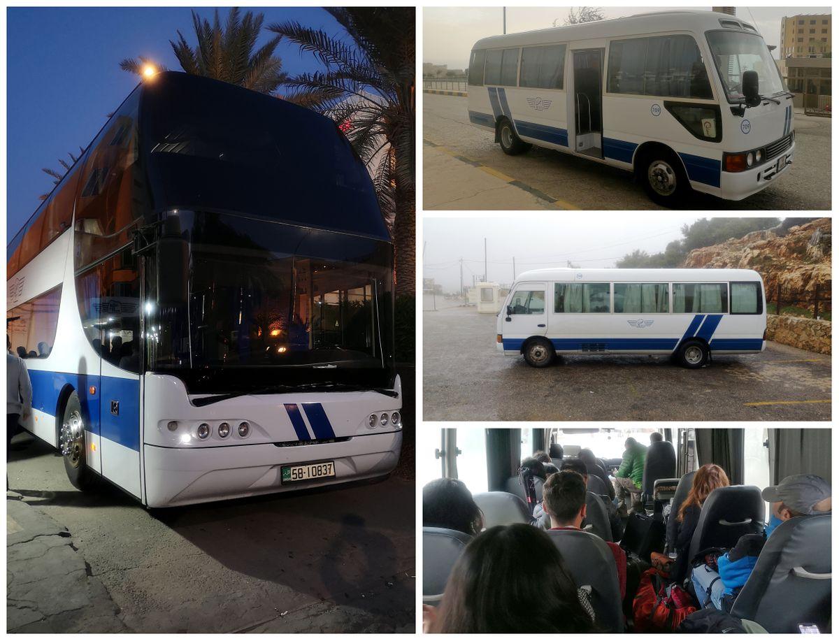 Jordánia busszal
